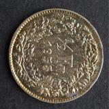 硬币瑞士 库存图片