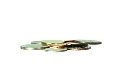 硬币的小组 库存图片