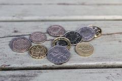 硬币的汇集 库存图片