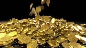 硬币秋天 向量例证