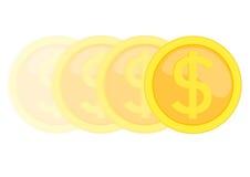 硬币移动 免版税库存照片