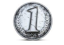硬币第一 免版税图库摄影