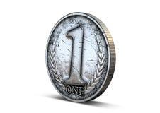 硬币第一 免版税库存照片