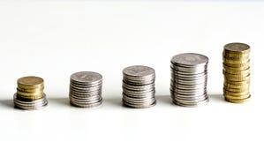 硬币线  免版税图库摄影