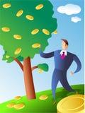 硬币结构树 免版税图库摄影