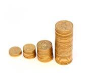 硬币绘制金黄 免版税库存图片
