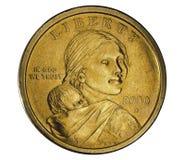 硬币美元一 图库摄影