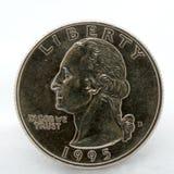 硬币美元季度 库存图片