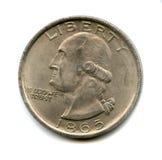 硬币老美国 免版税图库摄影