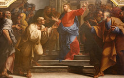 硬币耶稣・米兰罗马 免版税库存照片