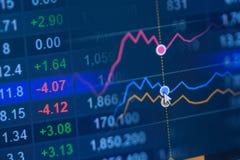 硬币舍去图形市场铅笔红色snd股票上升 免版税图库摄影