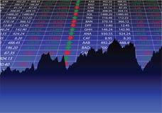 硬币舍去图形市场铅笔红色snd股票上升 皇族释放例证