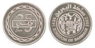 硬币被设置的巴林fils 免版税库存照片