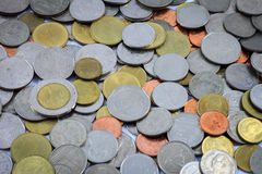 硬币金钱,泰国硬币金钱,硬币金钱背景 免版税库存照片
