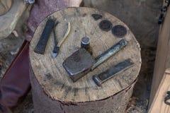 硬币锻件工具 图库摄影