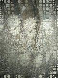 硬币马赛克单色样式 向量例证