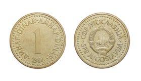 硬币1丁那南斯拉夫 免版税库存图片