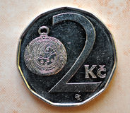 硬币-两冠,捷克 免版税图库摄影