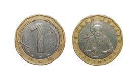 硬币1列弗保加利亚 库存照片
