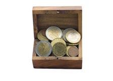 硬币(欧元) 免版税图库摄影