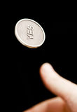 硬币翻转 库存图片