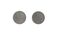 硬币50 Croszy 库存图片