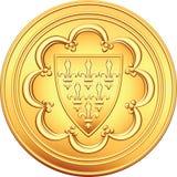 硬币ecu法国金货币向量 向量例证