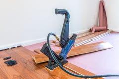 硬木地板设施 免版税图库摄影