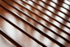 硬木板条纹理 免版税库存照片