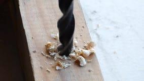 钻硬木 影视素材