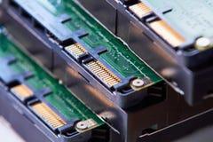 硬盘板和连接 免版税库存图片