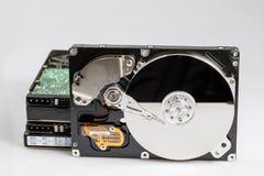 硬盘磁盘组 库存照片