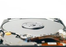 硬盘计算机存储关闭  免版税库存图片