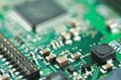 硬盘驱动器控制器PCB背景 库存图片