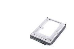 硬盘驱动器是在白色背景硬盘技术被隔绝的数字资料计算机的数据存储 免版税库存照片