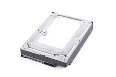硬盘驱动器是在白色背景硬盘技术被隔绝的数字资料计算机的数据存储 图库摄影
