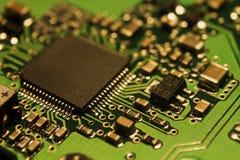 硬盘驱动器的电子芯片 库存图片
