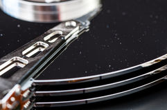 硬盘驱动器硬盘internals特写镜头datadisk 免版税库存图片