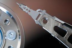 硬盘驱动器硬盘internals特写镜头datadisk 库存照片