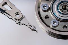 硬盘驱动器硬盘internals特写镜头datadisk 图库摄影