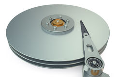 硬盘驱动器,硬盘驱动器视图里面 免版税库存照片