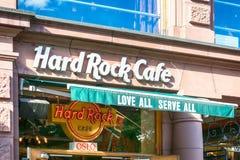 硬石餐厅在奥斯陆 免版税库存图片