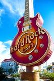 硬石餐厅的偶象标志 免版税图库摄影