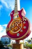 硬石餐厅的偶象标志 免版税库存照片