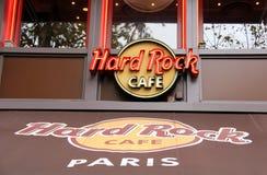 硬石餐厅巴黎 免版税库存照片
