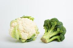 硬花甘蓝和花椰菜 免版税库存照片