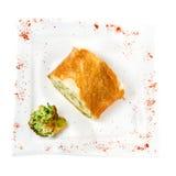 硬花甘蓝开胃菜在面团的 图库摄影