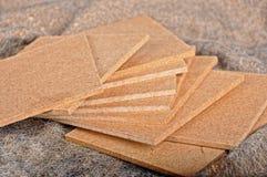 硬质纤维板样品 免版税库存照片