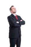 确信和幻想业务经理 免版税库存照片