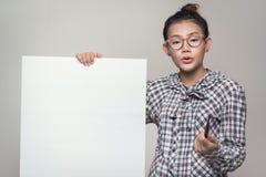 确信的亚裔妇女 免版税库存图片